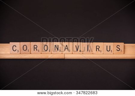 Woodbridge, New Jersey / Usa - January 29, 2020: The Word Coronavirus Is Spelled Out With Scrabble T