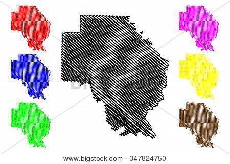 Arkansas County, Arkansas (u.s. County, United States Of America,usa, U.s., Us) Map Vector Illustrat