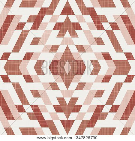Kilim Geo Seamless Pattern In Terra Cotta Colors