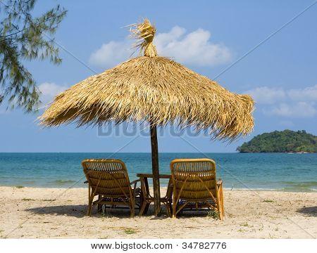 Beautiful Tropical Beach In Cambodia .