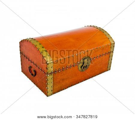 Isolated treasure chest on white