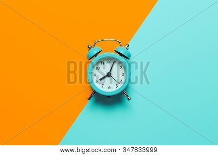 Punctual People Concept, Deadline In Business. Analog Alarm Clock.