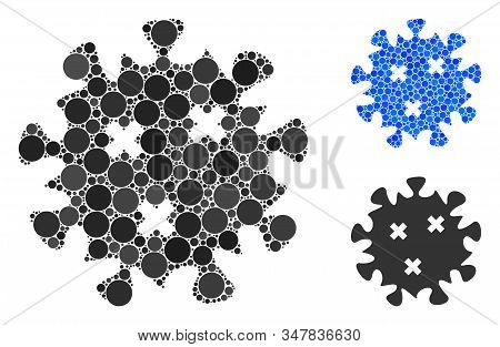 Infection Virus Mosaic Of Spheric Dots In Various Sizes And Color Tones, Based On Infection Virus Ic