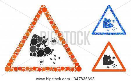 Swine Flu Warning Mosaic Of Circle Elements In Different Sizes And Shades, Based On Swine Flu Warnin