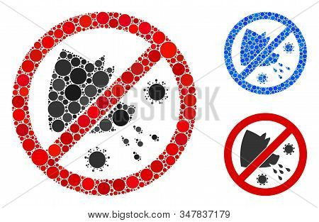 Stop Swine Flu Composition Of Round Dots In Various Sizes And Shades, Based On Stop Swine Flu Icon.