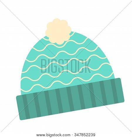 Isolated Beanie Image. Winter Clothes Icon - Vector