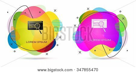Color System Bug Concept Icon Isolated On White Background. Code Bug Concept. Bug In The System. Bug