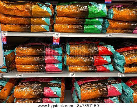 Orlando, Fl/usa-1/29/20: A Display Of Purina Pro Plan Savor Dog Food At A Petsmart Superstore Ready