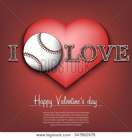 Love Baseball Happy Vector Photo Free Trial Bigstock