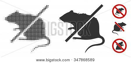 Stop Rats Halftone Vector Icon And Solid Version. Illustration Style Is Dotted Iconic Stop Rats Icon