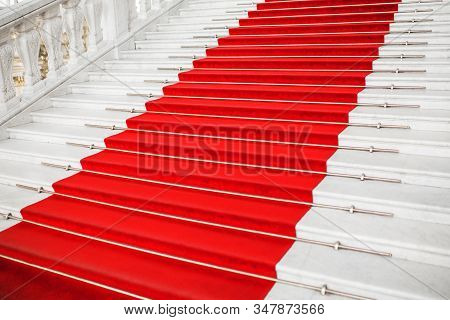 Red Velvet Carpet. Climb The Stairs. Prestigious Nomination. Stairway Go Up. Business Success. Stair