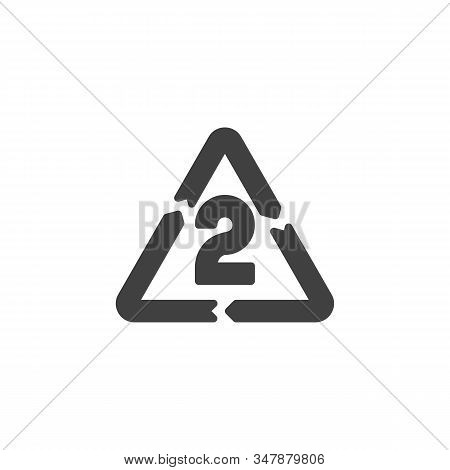 Hdpe 2, Industrial Marking Plastic Vector Icon. Filled Flat Sign For Mobile Concept And Web Design.