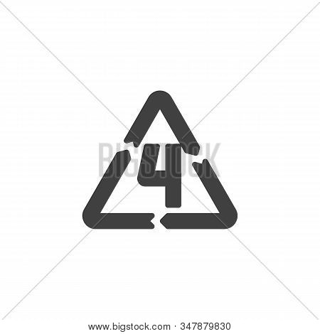 Ldpe 4, Industrial Marking Plastic Vector Icon. Filled Flat Sign For Mobile Concept And Web Design.