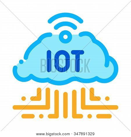 Internet Of Things Icon Vector. Outline Internet Of Things Sign. Isolated Contour Symbol Illustratio