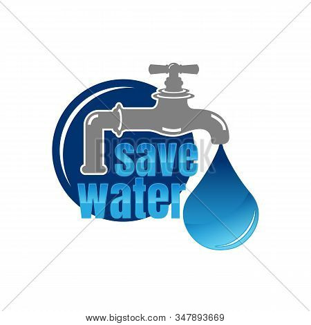 Save Water Vector Concept Ecology,save Water Icon Vector From Save The World Collection. Thin Line S