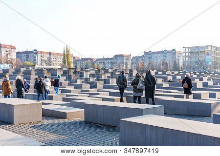Berlin, Germany - November 23, 2019: Memorial To The Murdered Jews Of Europe In Berlin, Germany. The