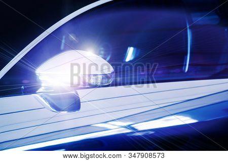 Glossy shiny car wing mirror