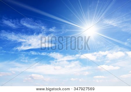 Bright sunshine and blue sky