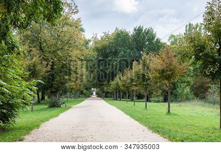 Walking In The Palace Garden Of Charlottenburg On An Autumn Day, A District Of The Charlottenburg-wi