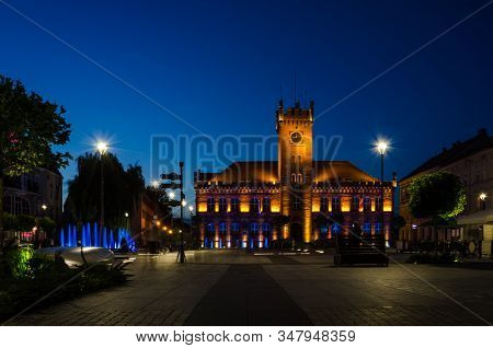 Evening At The Town Hal Square - A Beautiful And Prestigious City Center