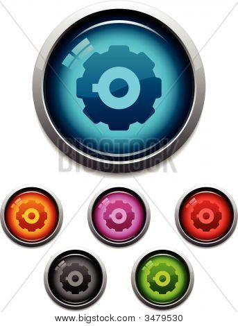 Gear Glossy Icons
