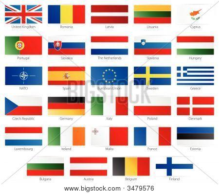 European Union Modern Style Flags