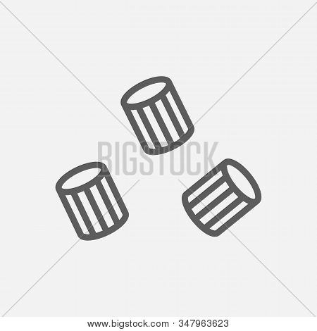 Ave Marie Pasta Shape Icon Line Symbol. Isolated Illustration Of Icon Sign Concept For Your Web Site