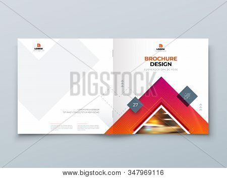 Brochure Cover Background Design. Corporate Template Layout For Business Annual Report, Catalog, Mag