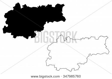 Krakow City (republic Of Poland) Map Vector Illustration, Scribble Sketch City Of Cracow Map