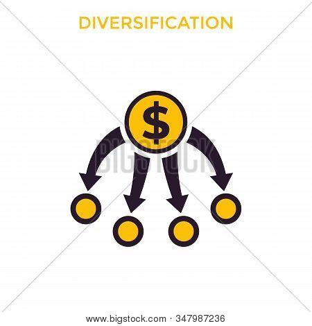 Diversification, Diversified Portfolio, Eps 10 File, Easy To Edit