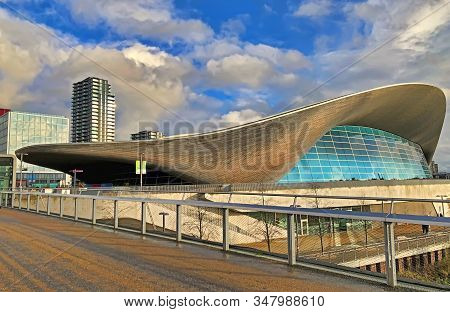 London, United Kingdom - December 20, 2019:  The Aquatics Centre At The New Queen Elizabeth Olympic
