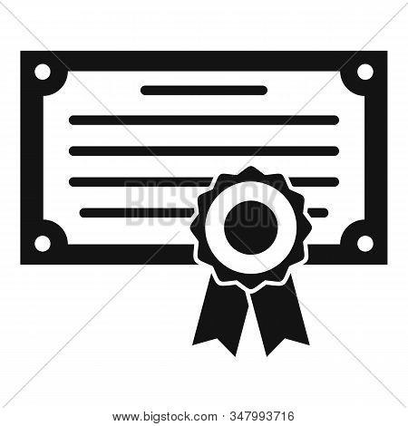 Exam Diploma Icon. Simple Illustration Of Exam Diploma Vector Icon For Web Design Isolated On White