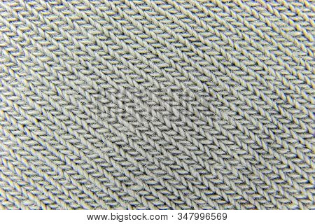 Background Of Gray Synthetic Wool Fabric