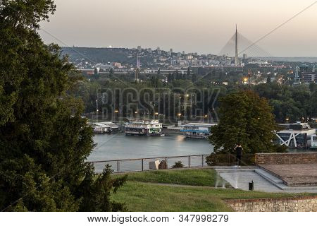 Belgrade, Serbia - August 12, 2019: Amazing Sunset View Of City Of Belgrade, Serbia