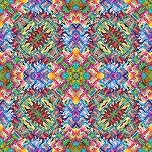 Seamless sophisticated Native American texture in modern design and vivid colors poster