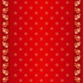 Oriental Chinese New Year cherry blossom seamless pattern and ornate frame poster