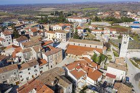 An Aerial View Of Sveti Lovrec, Istria, Croatia