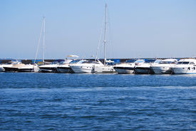 Boats Moored In Port