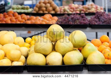 Citrus Fruit At Farmers Market
