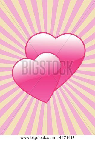 Glossy Love Hearts