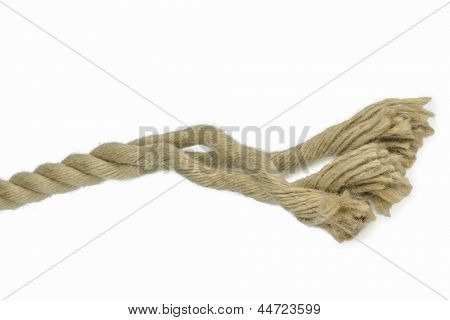 piece of rope photo icon for power, reliability and weakness