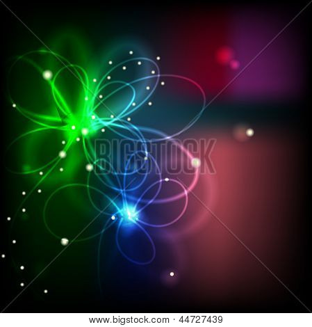 Flow Of Light Forming Flower