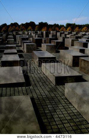 Grey Day Holocaust Memorial Tiergarten Berlin Germany