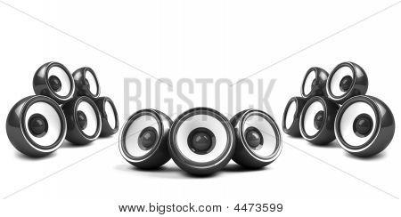 Black Stylish High-power Audio System