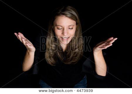 Young Praying Lady