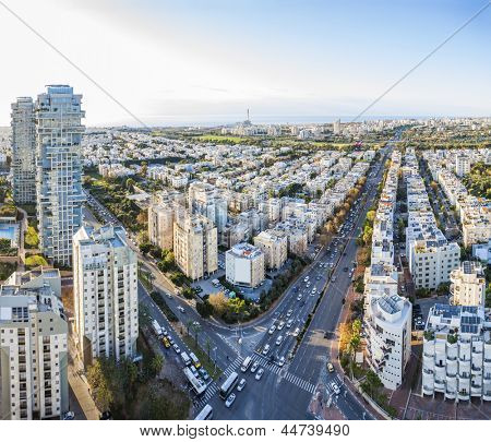 Tel Aviv at sunset, Israel
