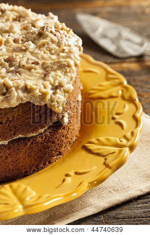 Homemade Gourmet German Chocolate Cake