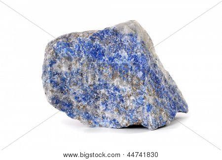 Lapis lazuli blue stone rock