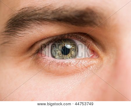 Close Up Of A Man Eyes