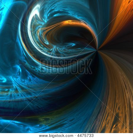 Blue And Copper Motions Abstract